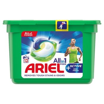Ariel Allin1 Pods +Active Odor Defense Kapsułki do prania, 13prań