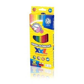 Astra Kredki ołówkowe hexagonalne 12 kolorów