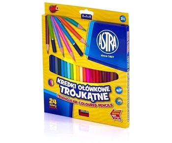 Astra Kredki ołówkowe trójkątne 24 kolory