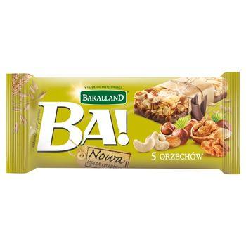 Bakalland Ba! 5 orzechów Baton zbożowy 40 g