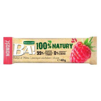 Bakalland Ba! Baton daktyle & malina z prażonymi arachidami i zbożem 40 g