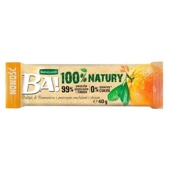 Bakalland Ba! Baton daktyle & pomarańcza z prażonymi arachidami i zbożem 40 g