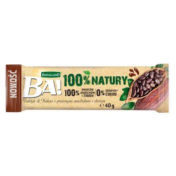 Bakalland Ba! Baton owocowy daktyle & kakao z prażonymi arachidami i zbożem 40 g