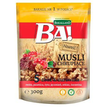 Bakalland Ba! Musli chrupiące 5 zbóż & żurawina 300 g