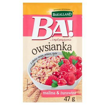 Bakalland Ba! Owsianka malina & żurawina 47 g