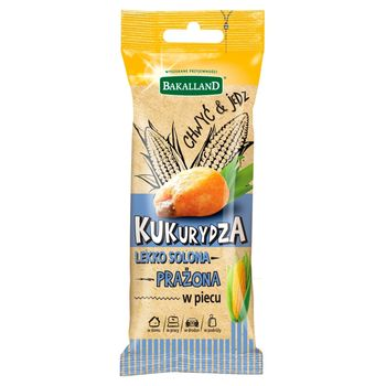Bakalland Kukurydza prażona w piecu lekko solona 45 g