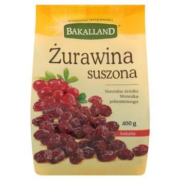 Bakalland Żurawina suszona 400 g