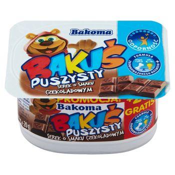 Bakoma Bakuś Puszysty serek o smaku czekoladowym 110 g