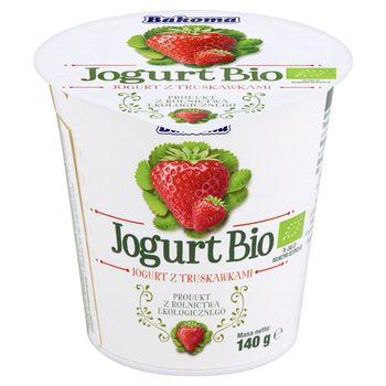Bakoma Jogurt Bio z truskawkami 140 g
