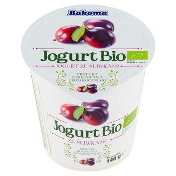 Bakoma Jogurt Bio ze śliwkami 140 g