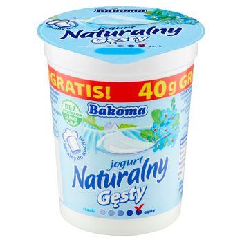 Bakoma Jogurt naturalny gęsty 430 g