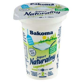Bakoma Jogurt naturalny łagodny smak 150 g