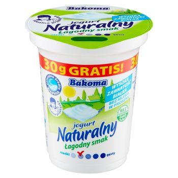 Bakoma Jogurt naturalny łagodny smak 320 g