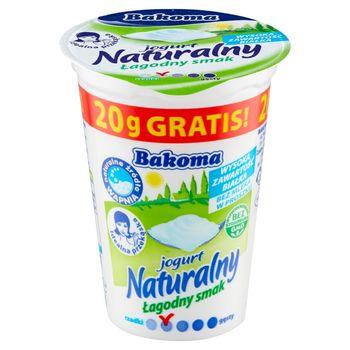 Bakoma Jogurt naturalny łagodny smak 170 g