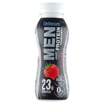 Bakoma Men Jogurt z wysoką zawartością protein truskawka 230 g