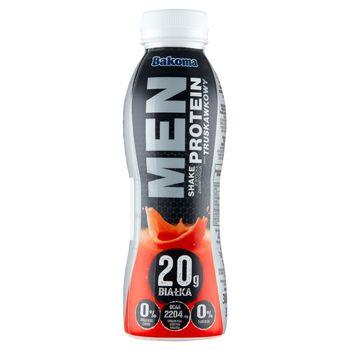 Bakoma Men Shake z wysoką zawartością protein smak truskawkowy 380 g
