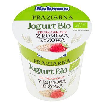 Bakoma Praziarna Jogurt Bio truskawkowy z komosą ryżową 140 g