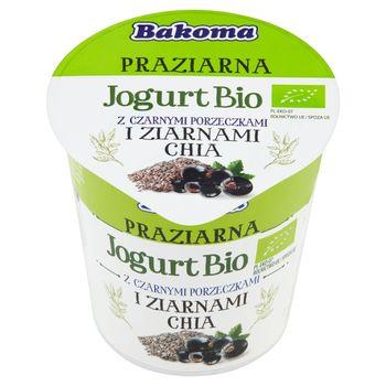 Bakoma Praziarna Jogurt Bio z czarnymi porzeczkami i ziarnami chia 140 g