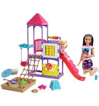 Barbie Skipper Klub opiekunek - Zestaw Plac zabaw Lalka + akcesoria GHV89