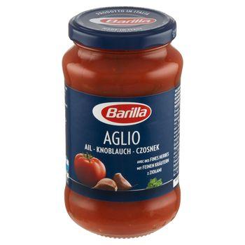 Barilla Aglio Sos pomidorowy z czosnkiem czerwonym winem i ziołami 400 g