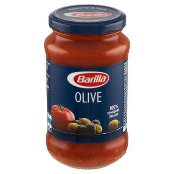 Barilla Olive Sos do makaronu pomidorowy z zielonymi i czarnymi oliwkami 400 g