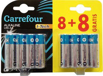 Bateria CARREFOUR AA 8+8 szt DY53163