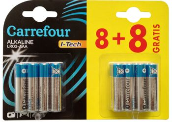 Bateria CARREFOUR AAA 8+8 szt DY53165