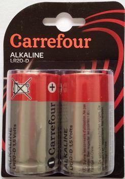 Bateria CARREFOUR LR20-D  2szt DY50175_001