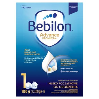 Bebilon 1 Pronutra-Advance Mleko początkowe od urodzenia 1100 g (2 x 550 g)