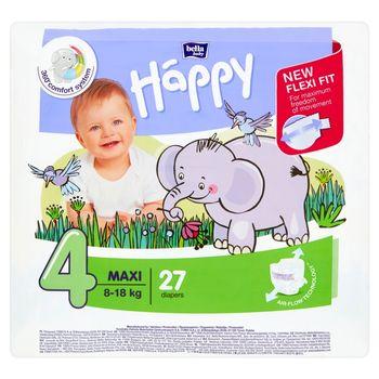 Bella Baby Happy Pieluszki jednorazowe 4 maxi 8-18 kg 27 sztuk