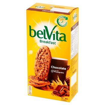 belVita Breakfast Ciastka zbożowe o smaku kakaowym z kawałkami czekolady 300 g (6 x 50 g)