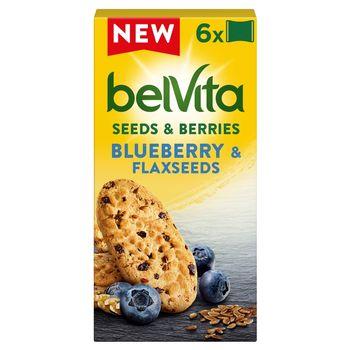belVita Ciastka zbożowe z nasionami lnu i jagodami 270 g (6 x 45 g)