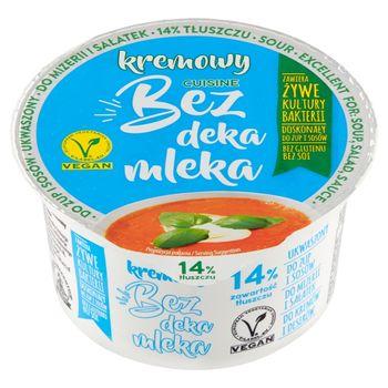 Bez deka mleka Kremowy produkt 14% tłuszczu 200 g