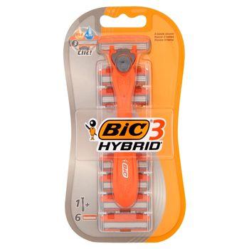 BiC 3 Hybrid Dwuczęściowa maszynka do golenia i 6 wymiennych wkładów