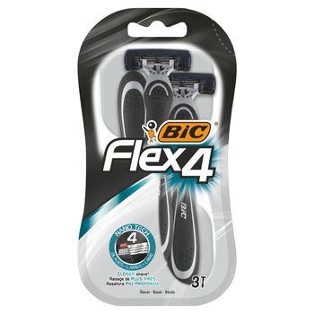 BiC Flex 4 Jednoczęściowe maszynki do golenia 3 sztuki