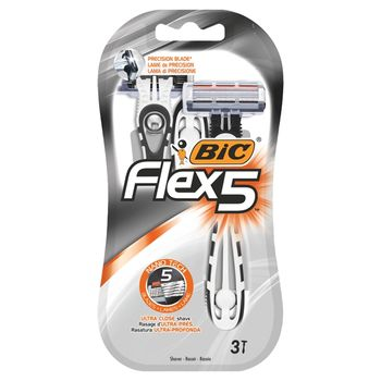 BiC Flex 5 5-ostrzowa maszynka do golenia 3 sztuki