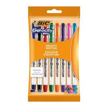 BIC Gel-ocity Stic 0.5mm Długopis żelowy AST Pouch 8szt