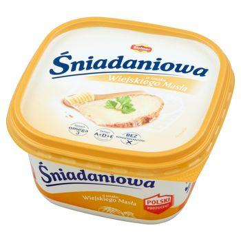 Bielmar Śniadaniowa Margaryna półtłusta o smaku wiejskiego masła 450 g