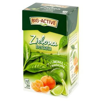 Big-Active Zielona herbata z limonką i mandarynką 30 g (20 x 1,5 g)