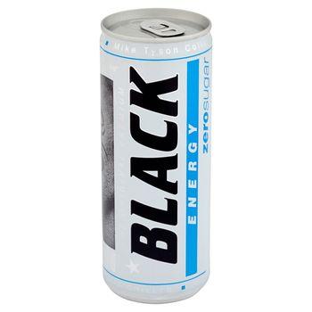 Black Energy Zero Sugar Gazowany napój energetyzujący bez cukru 250 ml