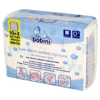 Bobini Baby Super chłonne podkłady higieniczne dla niemowląt i dzieci 12 sztuk