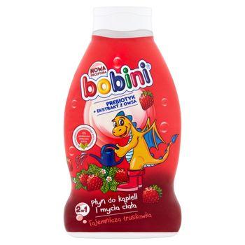 Bobini Płyn do kąpieli i mycia ciała 2w1 Tajemnicza truskawka 660 ml