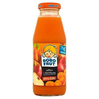 Bobo Frut 100% sok jabłko i marchewka po 4 miesiącu 300 ml