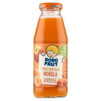 Bobo Frut Sok 100% jabłko marchewka morela po 5. miesiącu 300 ml