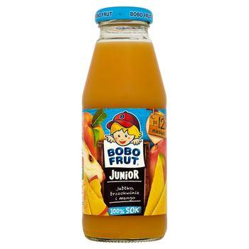 Bobo Frut Junior 100% Sok jabłko brzoskwinia i mango po 12 miesiącu 300 ml