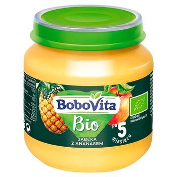 BoboVita Bio Jabłka z ananasem po 5 miesiącu 125 g