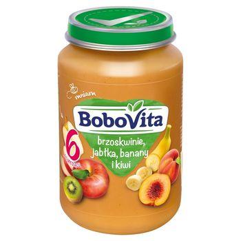 BoboVita Brzoskwinie jabłka banany i kiwi po 6 miesiącu 190 g