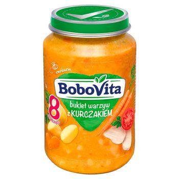 BoboVita Bukiet warzyw z kurczakiem po 8 miesiącu 190 g