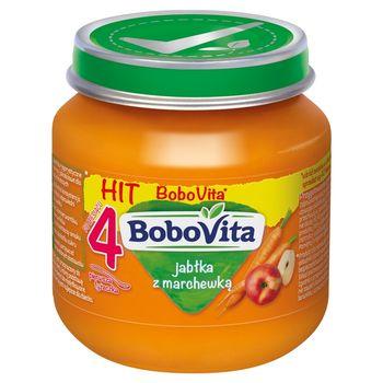 BoboVita Jabłka z marchewką po 4 miesiącu 125 g