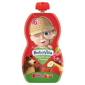 BoboVita Mus truskawki i wiśnie z bananem po 6 miesiącu 100 g